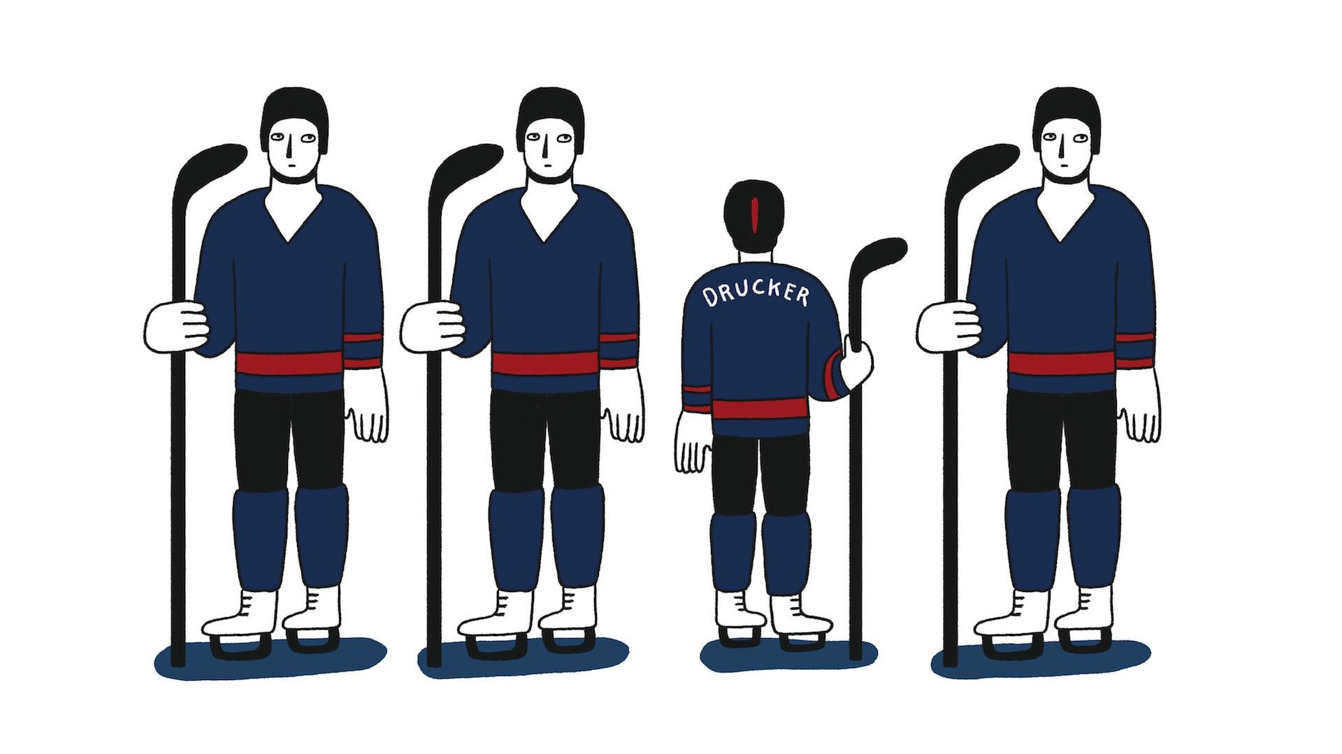 Hockey Player Graphic